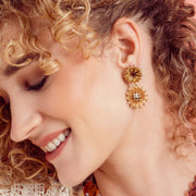 "HEIDI DAUS® ""Autumn Abundance"" Crystal Drop Floral Earrings - Heidi Daus®"