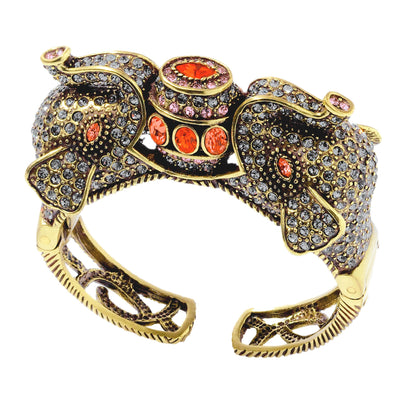 """The Imperial Elephant"" Crystal Cuff Bracelet"