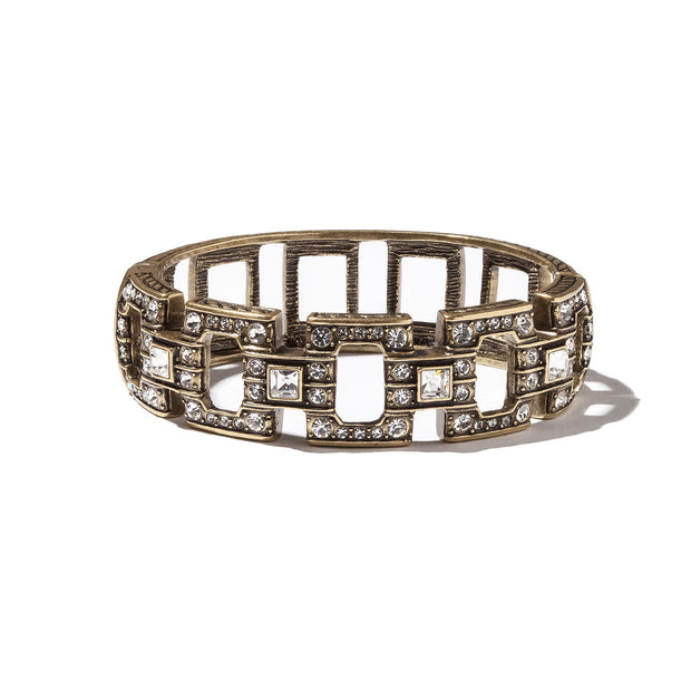 "HEIDI DAUS® ""All Squared Away"" Crystal Bangle Bracelet - Heidi Daus®"