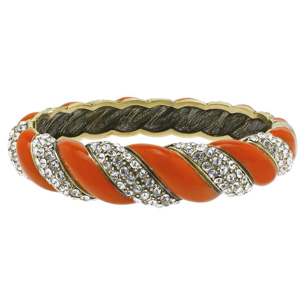 """Sag Harbor"" Enamel & Crystal Bangle Bracelet - Heidi Daus®"