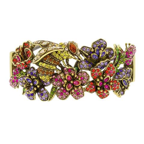 """Pretty Pollination"" Floral Crystal Bracelet"