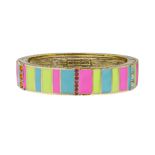 "HEIDI DAUS®""Color Crazy"" Enamel Crystal Bangle Deco Bracelet - Heidi Daus®"