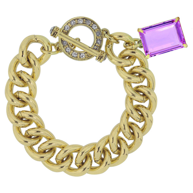"HEIDI DAUS®""The Devil Wears Heidi"" Chain & Crystal Toggle Bracelet - Heidi Daus®"