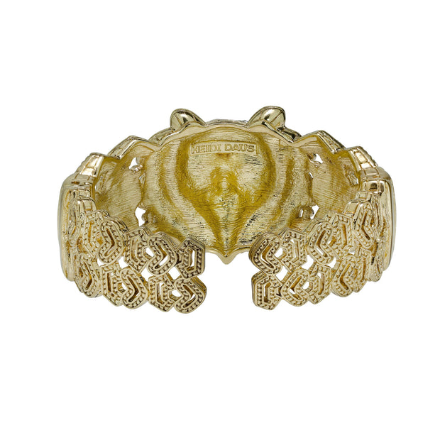 "HEIDI DAUS®""No Fear in Fierce"" Enamel Crystal Bangle Tiger Bracelet - Heidi Daus®"