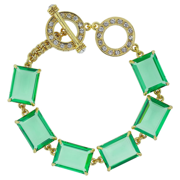 "HEIDI DAUS®""The Devil Wears Heidi"" Crystal Toggle Bracelet - Heidi Daus®"