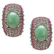 "Heidi Daus® ""Captivating Cabochon"" Swarovski Half-Hoop Earrings - Heidi Daus®"