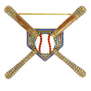 "HEIDI DAUS® ""Home Run"" Enamel & Crystal Baseball Pin - Heidi Daus®"