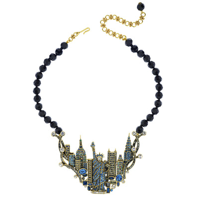 """New York, NY"" Crystal Beaded New York Necklace - Heidi Daus®"