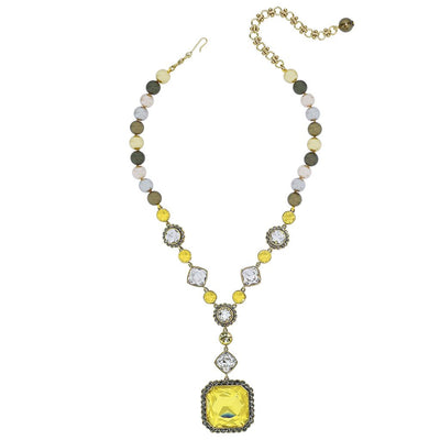 """Breakfast at Heidi's"" Beaded Crystal Deco Necklace - Heidi Daus®"