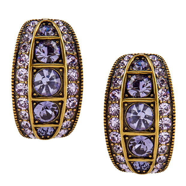 "HEIDI DAUS® ""First in Line"" Swarovski Art Deco Half-Hoop Earrings - Heidi Daus®"