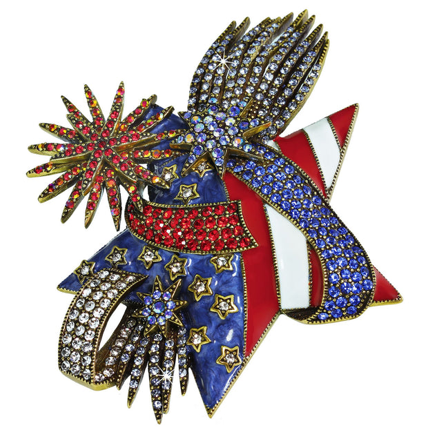 """Stars & Stripes & Sparkling Nights"" Crystal Pin"