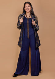HEIDI DAUS® Coco Classic Navy Blue Palazzo High Waisted Pull-On Pants - Heidi Daus®