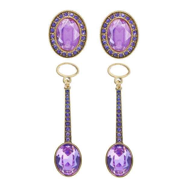 "HEIDI DAUS® ""In Addition"" Convertible Crystal Drop Earrings - Heidi Daus®"