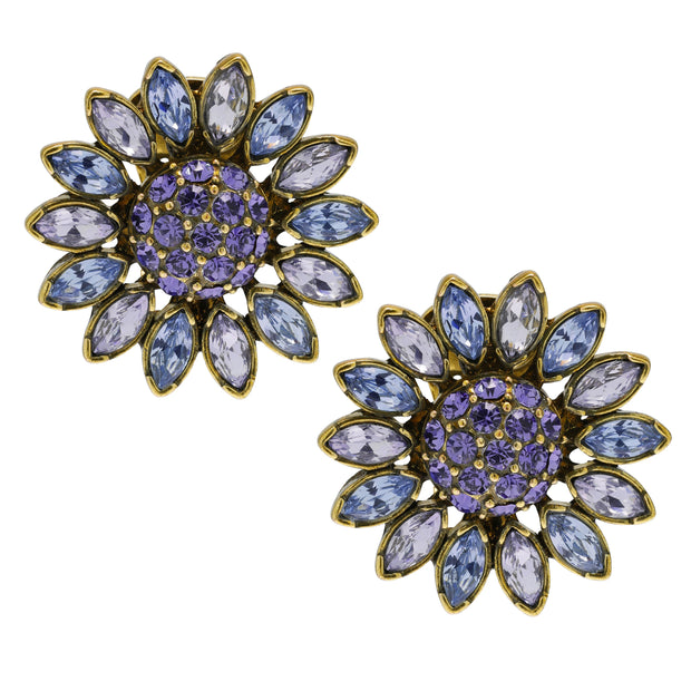 """Divine Miss Daisy"" Crystal Button Earrings - Heidi Daus®"