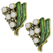 "HEIDI DAUS®""Lily Of The Valley"" Beaded Enamel Crystal Flower Earrings - Heidi Daus®"