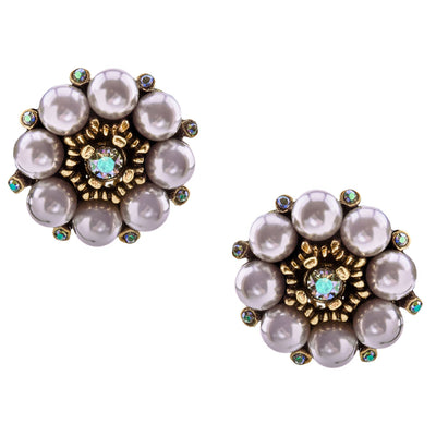 """Bloomin' Fabulous"" Swarovski Button Earrings"