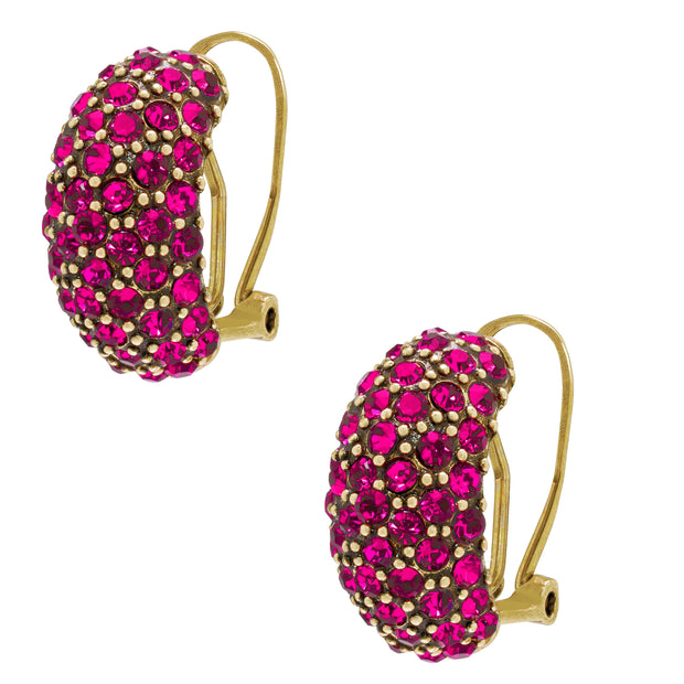 "Heidi Daus® ""Hugs from Heidi"" Crystal Half-Hoop Earrings - Heidi Daus®"