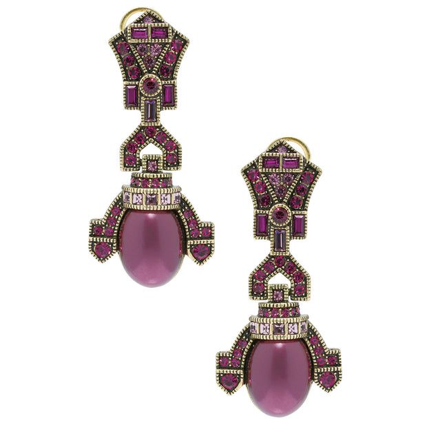 """Dinner With Deco"" Beaded Crystal Drop Deco Earrings - Heidi Daus®"