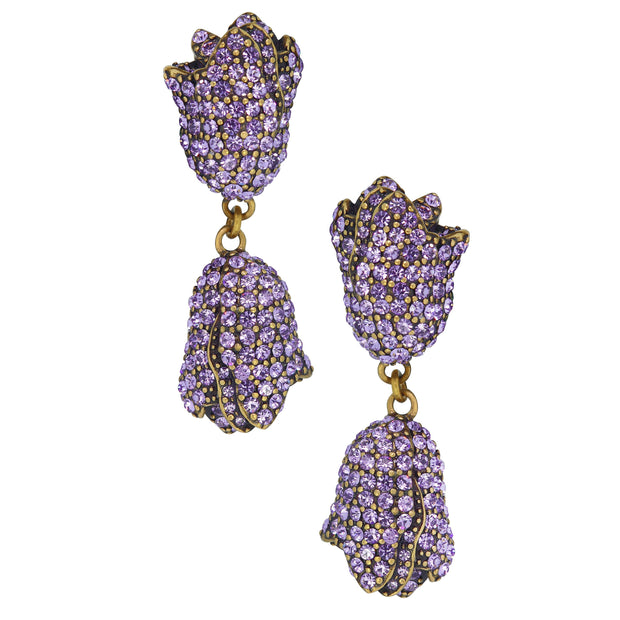 "HEIDI DAUS®""Couture Tulip"" Crystal Flower Drop Earrings - Heidi Daus®"