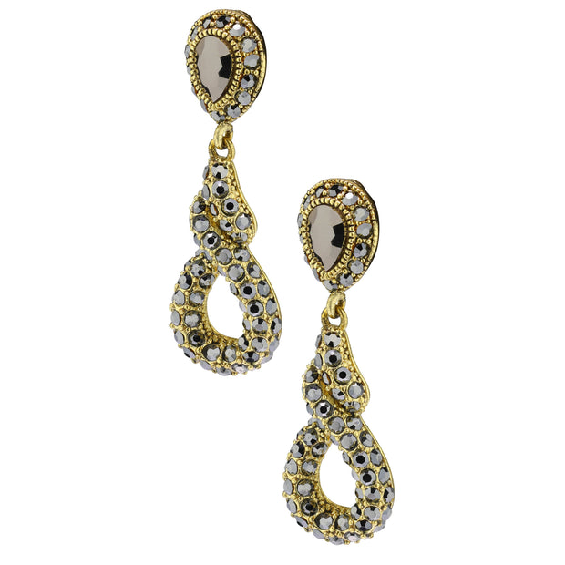 "HEIDI DAUS®""Sleek and Sophisticated"" Crystal Earrings - Heidi Daus®"