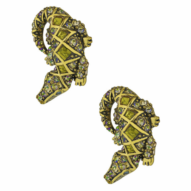 "HEIDI DAUS® ""Alligator Garden"" Crystal Button Alligator Earrings - Heidi Daus®"