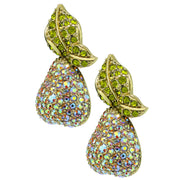 "HEIDI DAUS®""Elegant Anjou"" Crystal Pear Button Earrings - Heidi Daus®"
