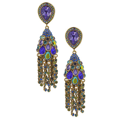 "HEIDI DAUS®""Let Down Your Feathers"" Crystal Chain Drop Earring - Heidi Daus®"