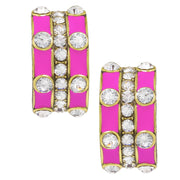 """Stackable Style"" Enamel & Crystal Earrings - Heidi Daus®"