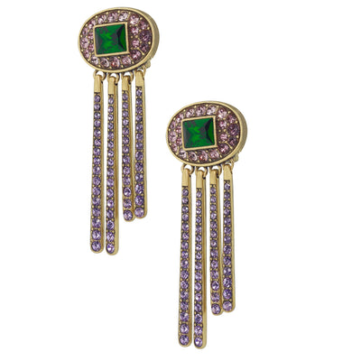 "HEIDI DAUS®""Artful Abstract"" Crystal Drop Statement Earrings - Heidi Daus®"