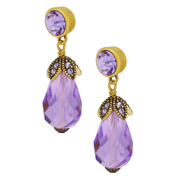 "Heidi Daus® ""Sleek Chic"" Crystal Beaded Drop Earring - Heidi Daus®"