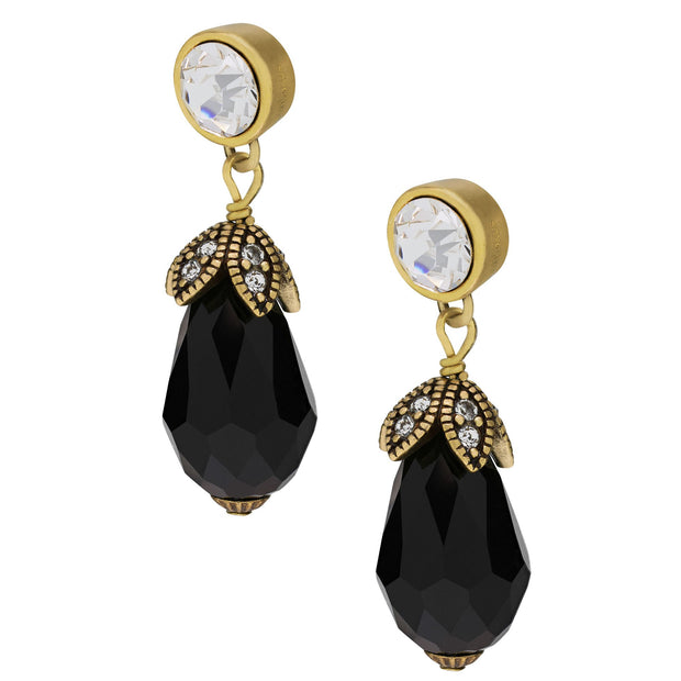"""Sleek Chic"" Crystal Beaded Drop Earring - Heidi Daus®"