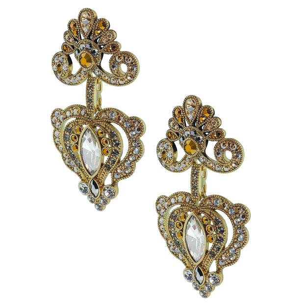 """Regal Rapture"" Crystal Drop Earrings - Heidi Daus®"