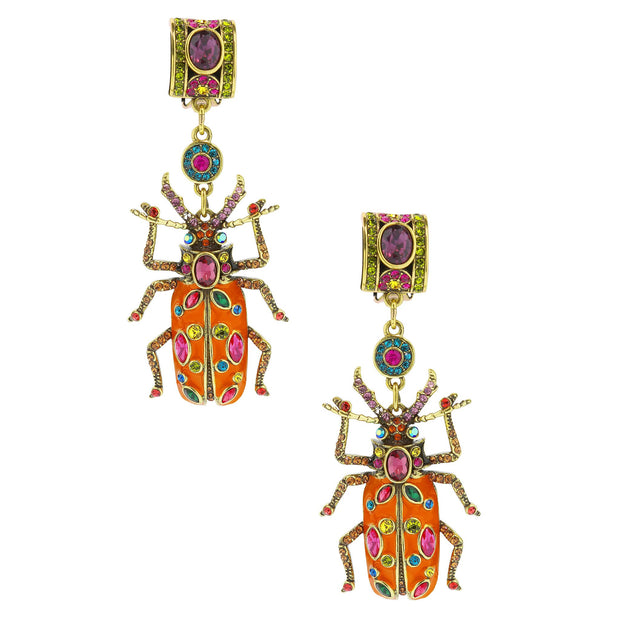 "HEIDI DAUS®""Big Critter"" Enamel Crystal Critter Drop Earrings - Heidi Daus®"