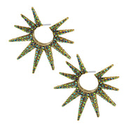 """Twilight Sunburst"" Crystal Hoop Earrings - Heidi Daus®"