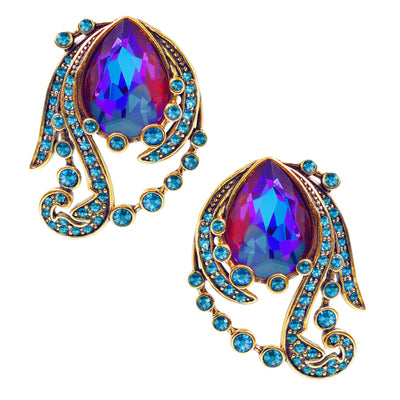 "HEIDI DAUS®""Make Some Waves"" Crystal Button Earrings - Heidi Daus®"