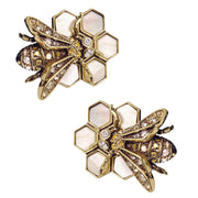 "HEIDI DAUS®""Nectar of the Gods"" Crystal Bee Earrings - Heidi Daus®"