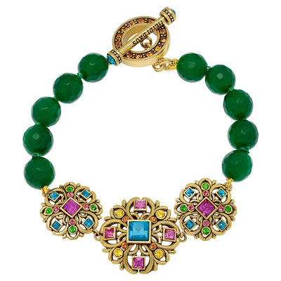 """Crown Collection"" Crystal Beaded Toggle Bracelet"