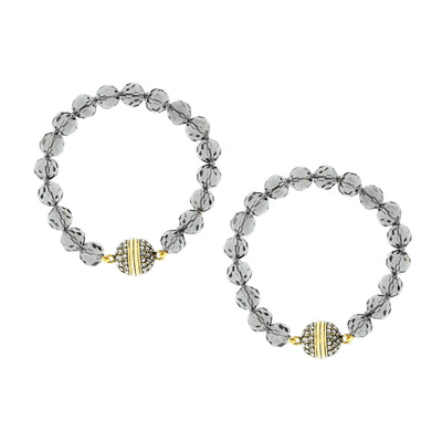 """Endless Possibilities"" Crystal Beaded Interchangeable Bracelet Set - Heidi Daus®"