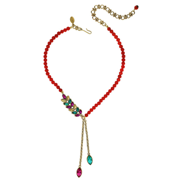 """Nouveau Navettes"" Crystal Floral Drop Necklace - Heidi Daus®"