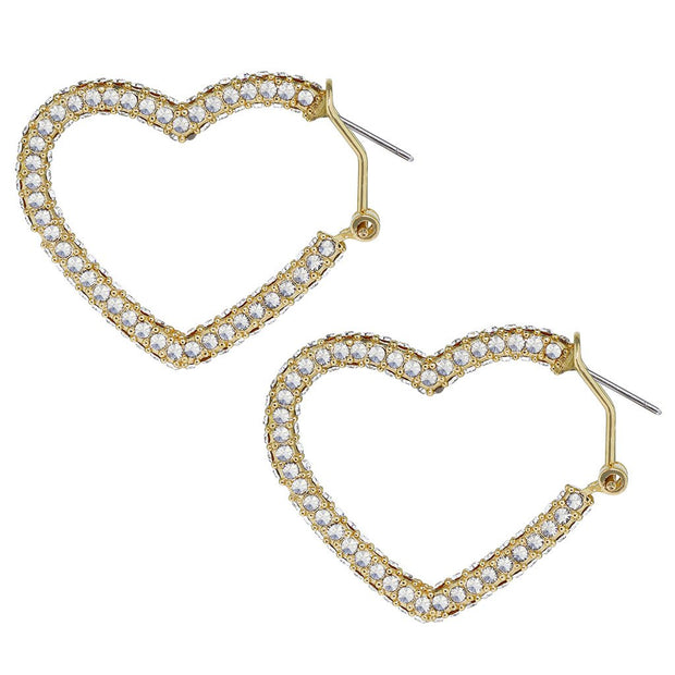 "HEIDI DAUS® ""All You Need Is Love"" Crystal Heart Earrings - Heidi Daus®"