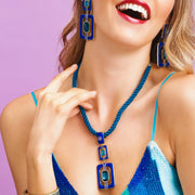 """Thoroughly Modern"" Crystal Cord Deco Drop Necklace - Heidi Daus®"