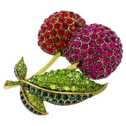 """Cherry on Top"" Crystal Cherry Pin - Heidi Daus®"
