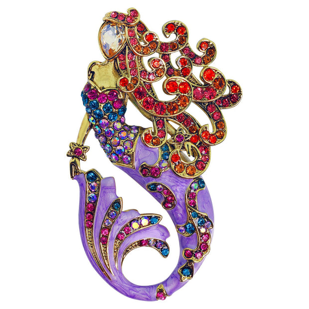 "HEIDI DAUS®""Sea Fairy"" Crystal and Enamel Mermaid Pin - Heidi Daus®"