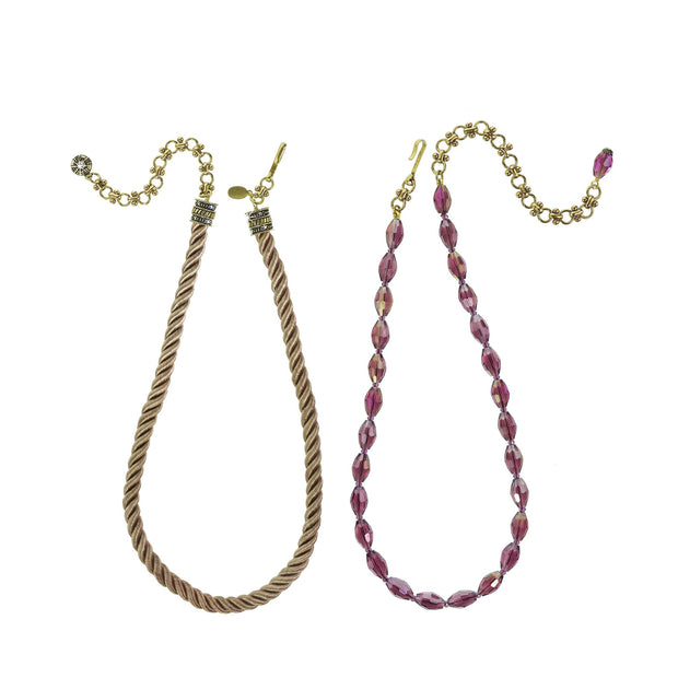 """Elegant Essential"" Pin Enhancer Bead & Cord Necklace Set - Heidi Daus®"