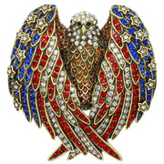 """Freedom Wings"" Crystal Eagle Patriotic Pin"