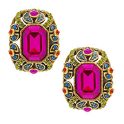 """Irresistible Impressions"" Crystal Classic Button Earrings - Heidi Daus®"