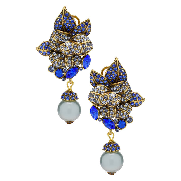 "HEIDI DAUS® ""Fancy Bottle"" Beaded Crystal Drop Floral Earrings - Heidi Daus®"