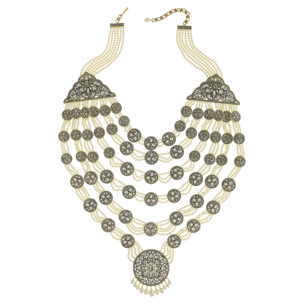 "HEIDI DAUS® ""Goddess Of Love"" Swarovski & Pearl Iconic Statement Necklace - Heidi Daus®"