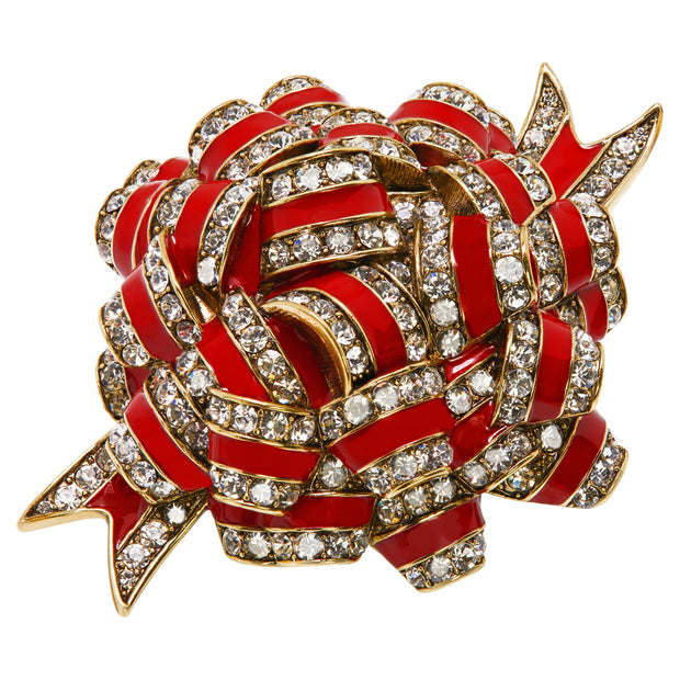 "HEIDI DAUS®""Ravishing Ribbon"" Enamel Crystal Ribbon Pin - Heidi Daus®"
