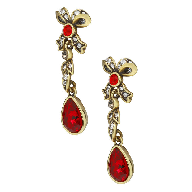 """Regal Ribbon"" Crystal Drop Earrings - Heidi Daus®"